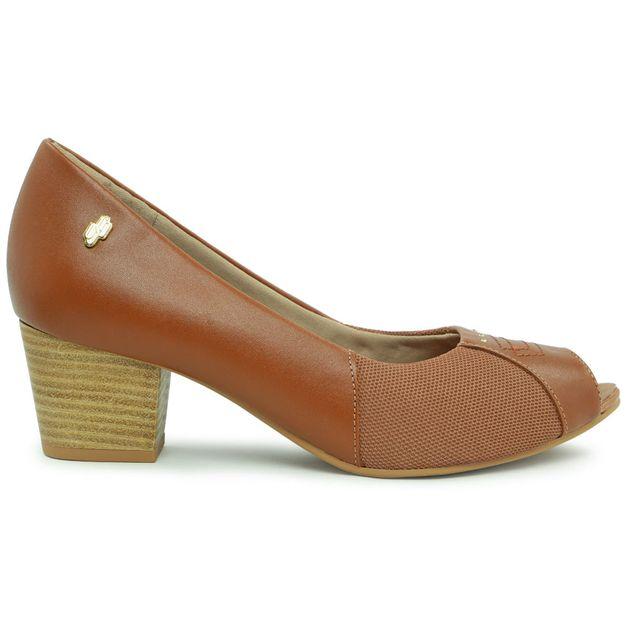 Peep toe clássico marrom 33