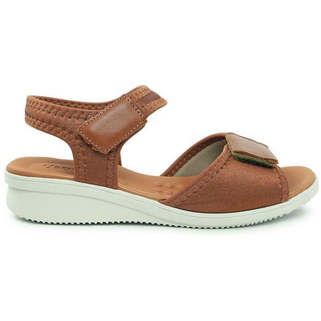 Sandália velcro marrom 33