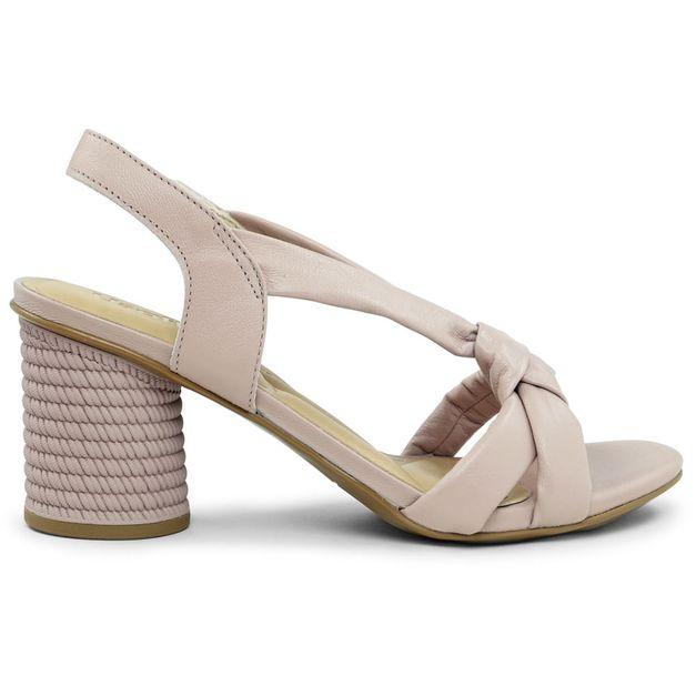 Sandália soft lilás com nó 33