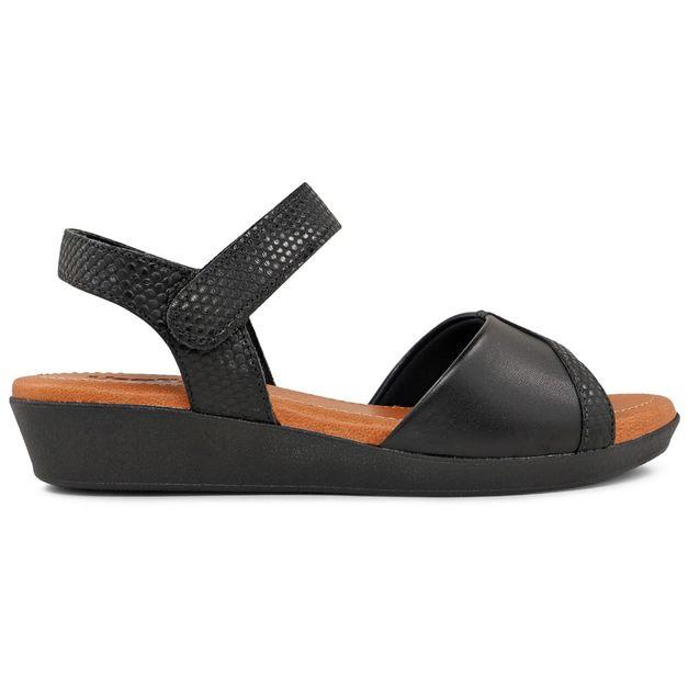 Sandália escamado preto 34