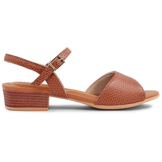 Sandália texturizada marrom 34