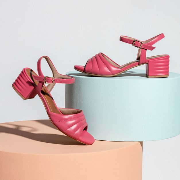Sandália pelica pink 34