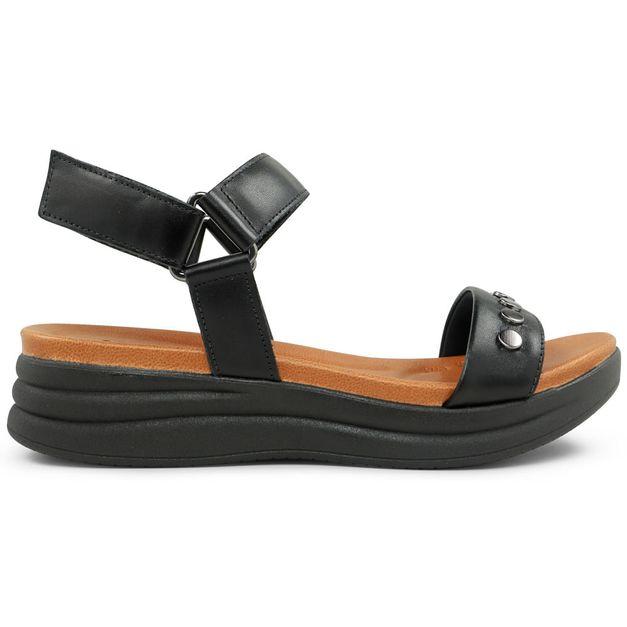 Sandália preta com enfeite 35
