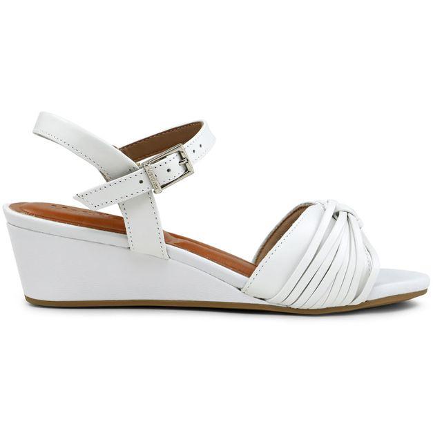 Sandália macramê branco 34