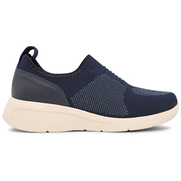 Tênis tecido tricot azul 33