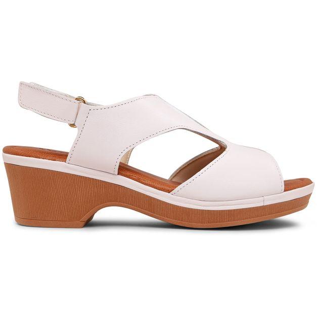 Sandália branca com elástico 34