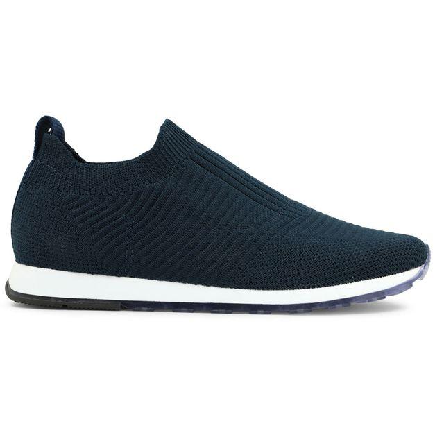 Tênis tricot azul 34