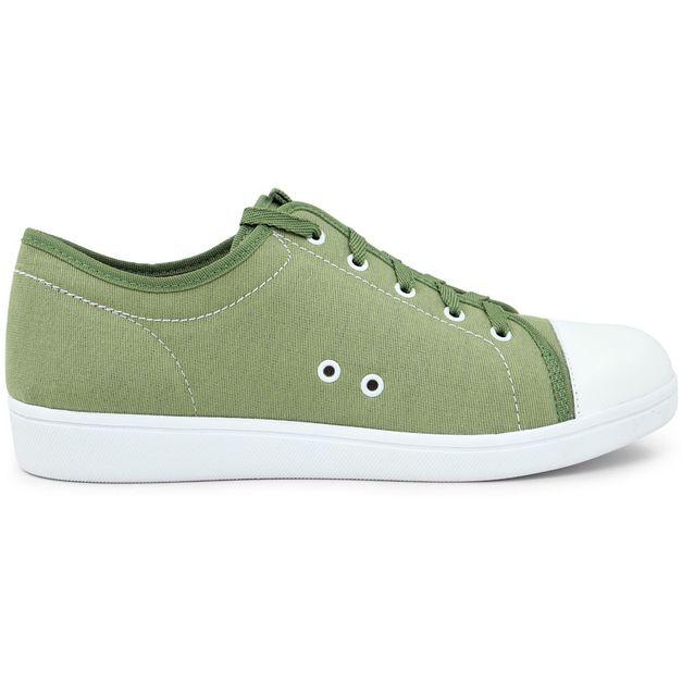 Tênis cadarço verde 33