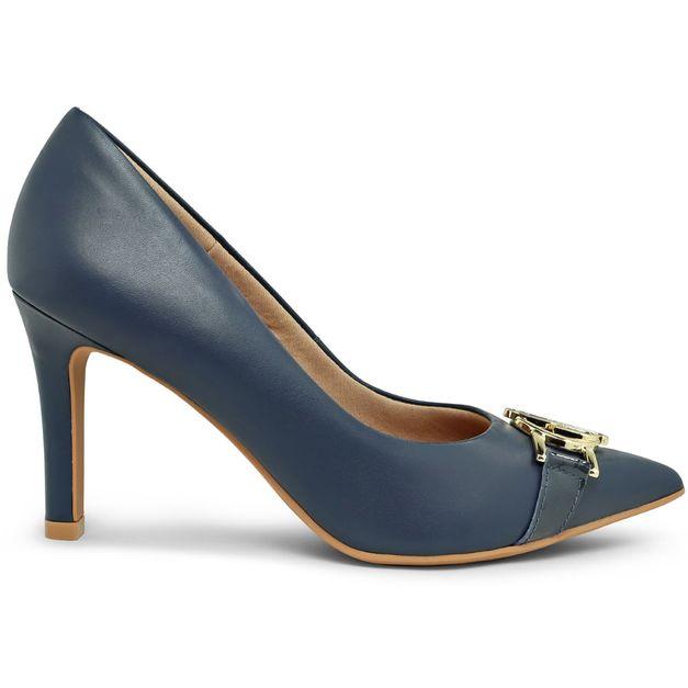 Scarpin monograma azul 34