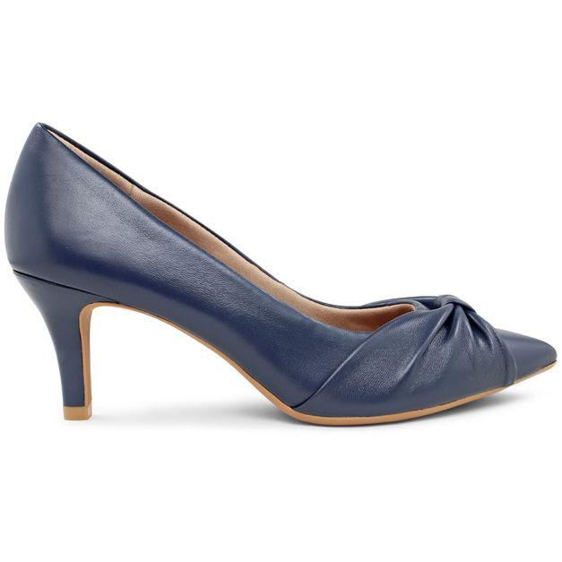Scarpin pelica azul 38