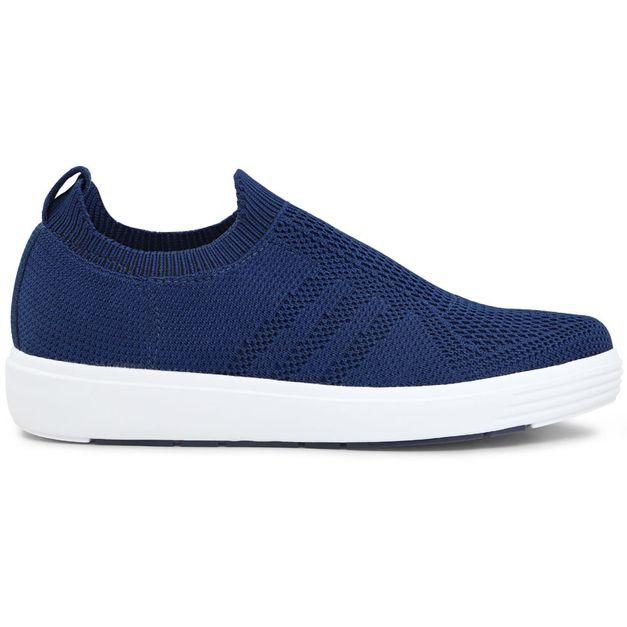 Tênis Sneaker Tricot Azul 33