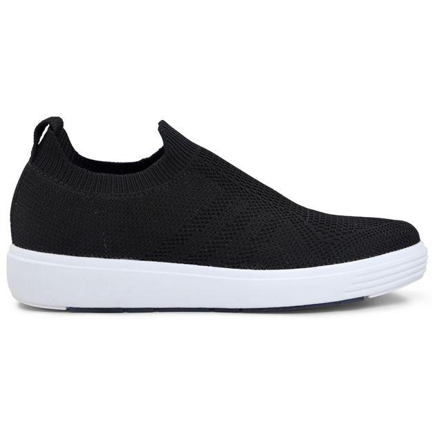 Tênis Sneaker Tricot Preto 33