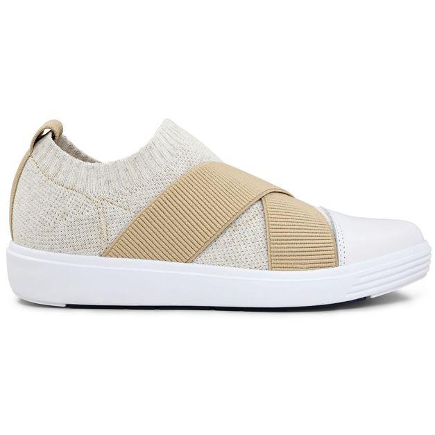 Sneaker tricot natural tiras elástico 33