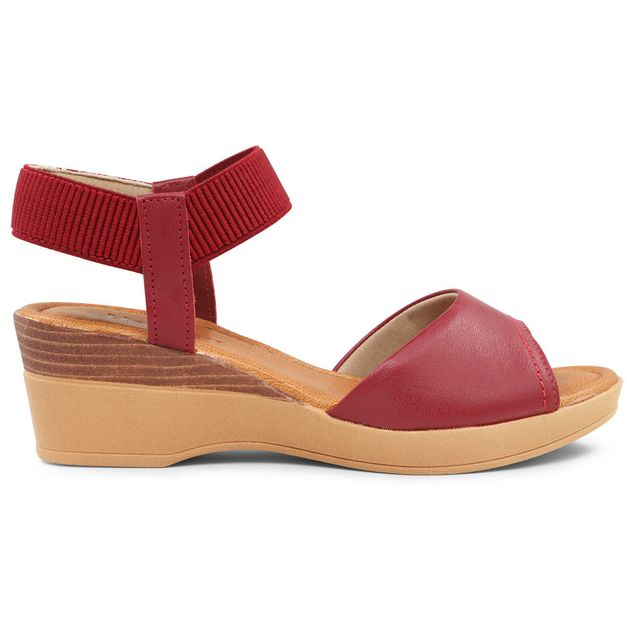 Sandália tiras vermelha 33