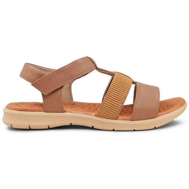 Sandália marrom com velcro 33