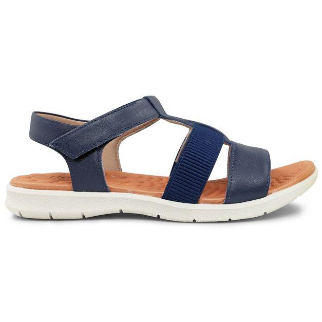 Sandália azul tiras com velcro 33