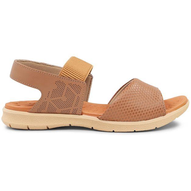Sandália escamado marrom 33