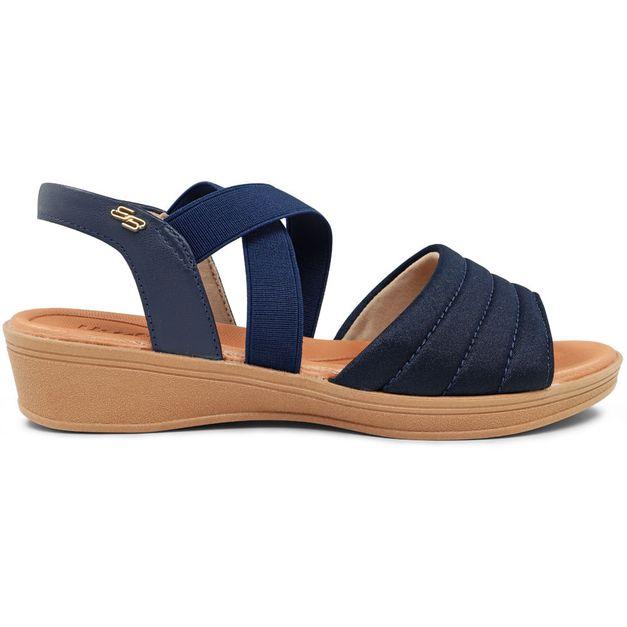 Sandália lisa azul 33