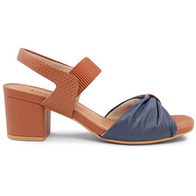 Sandália azul com marrom 34