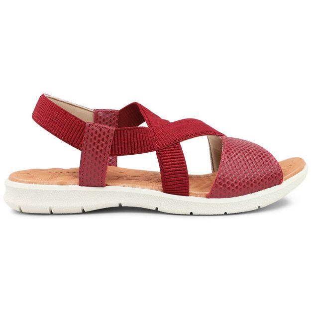 Sandália tiras vermelho rebu 33