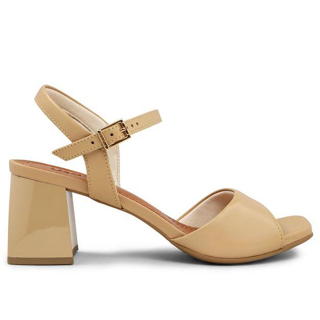 Sandália blush salto grosso 33