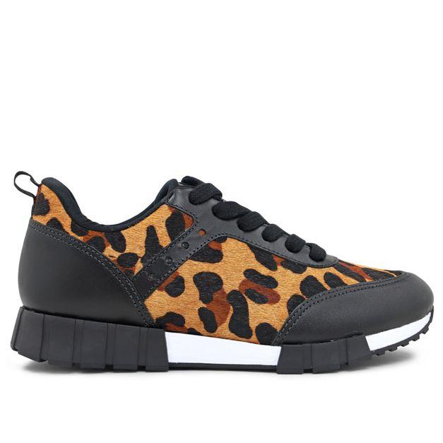 Tênis sportwear pelo leopardo 33