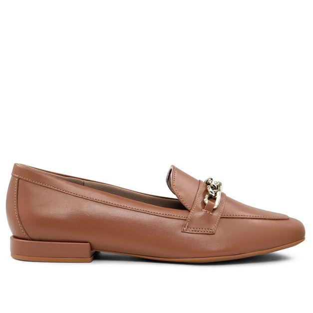Loafer marrom com corrente 33