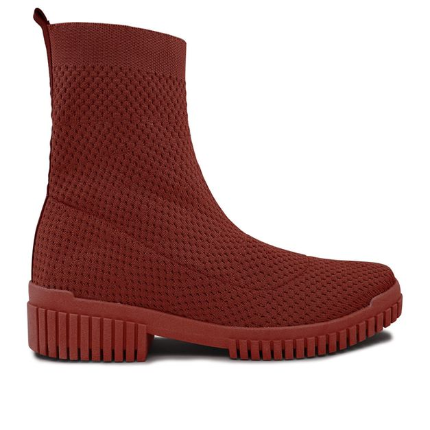 Bota tricot vermelha 33