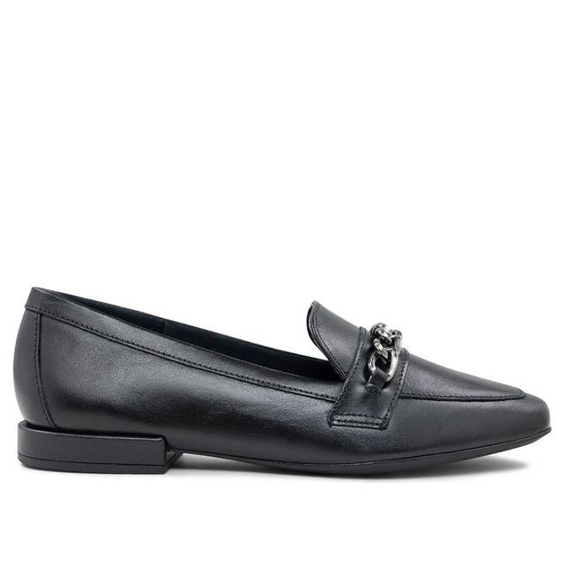 Loafer preto com corrente 33