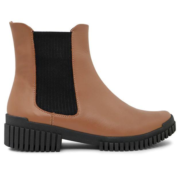 Flexy boot marrom camel com elástico 33