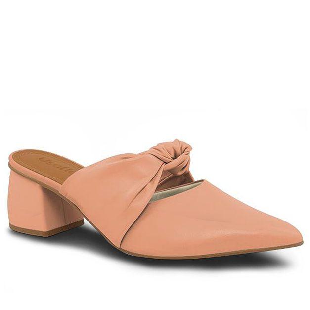 Mule bico fino rosa quartzo 35
