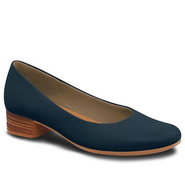 Scarpin liso azul 35