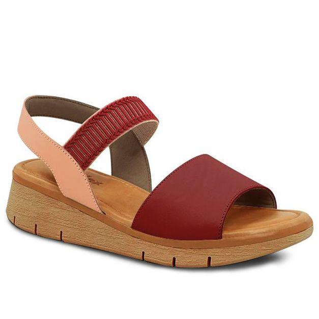 Sandália anabela rosa e rebu 34