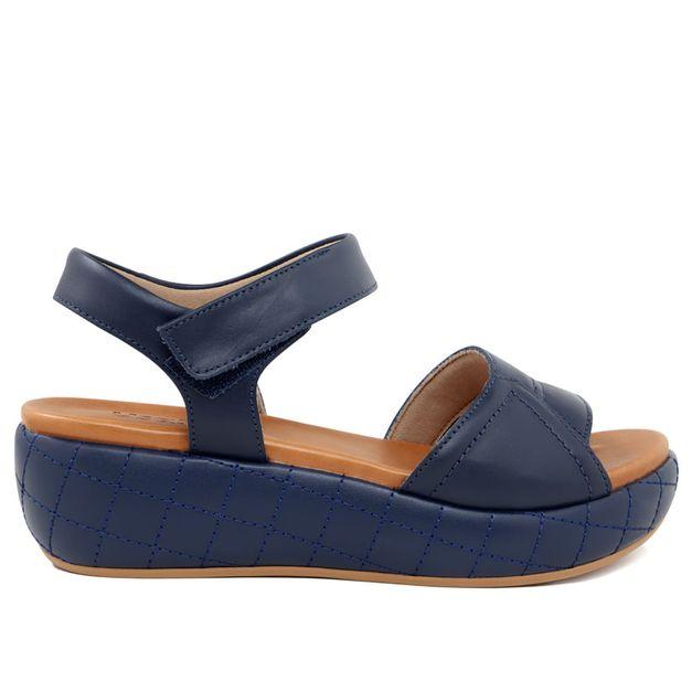 Sandália flatform azul 35