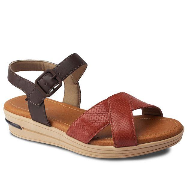 Sandália vermelha com chocolate 34