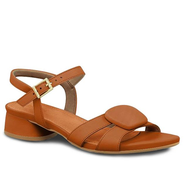 Sandália marrom canela 34