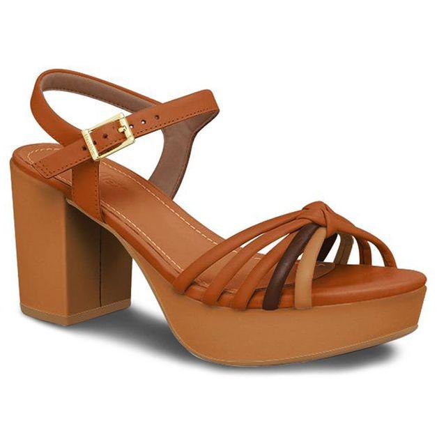 Sandália marrom trançada 36