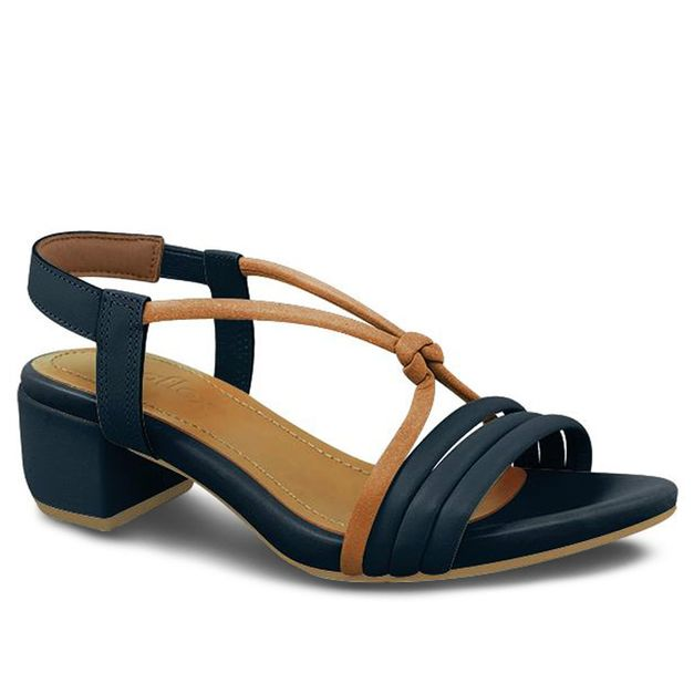 Sandália tiras azul 35