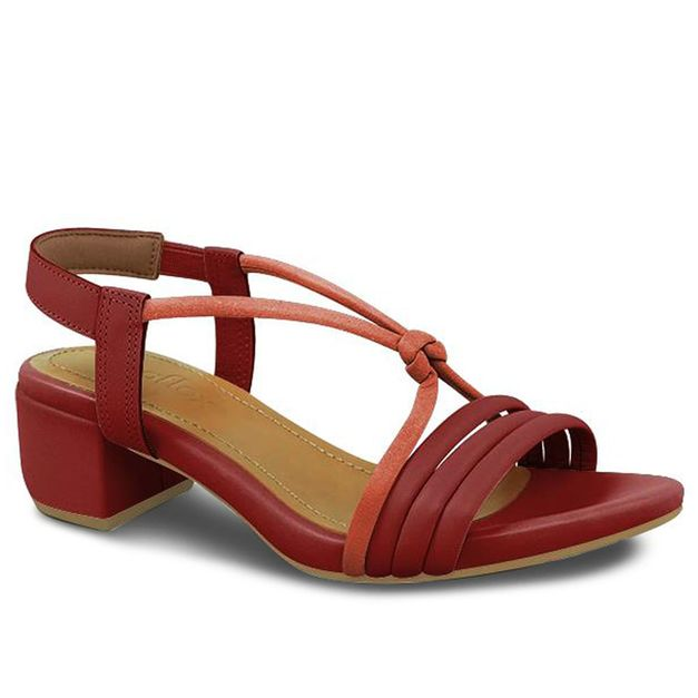 Sandália tiras vermelha 35