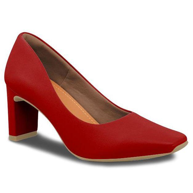 Scarpin liso vermelho 37