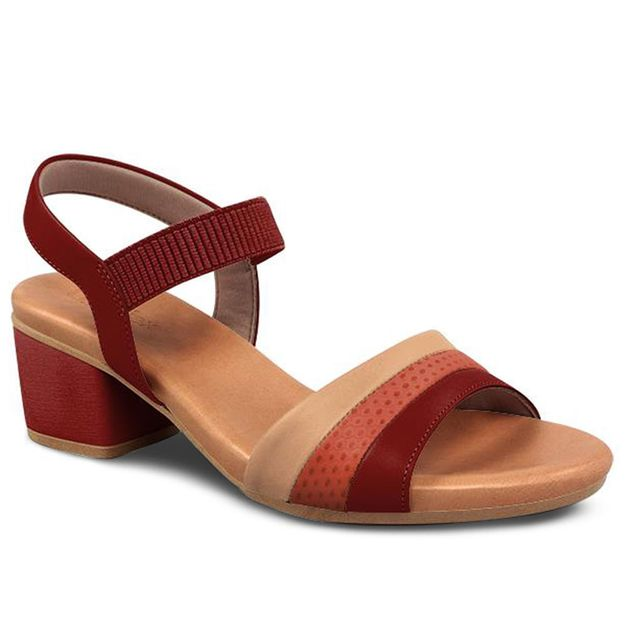 Sandália multicolor salto médio 35
