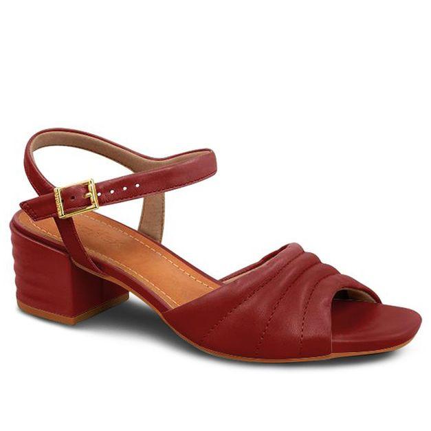 Sandália pelica vermelha 36
