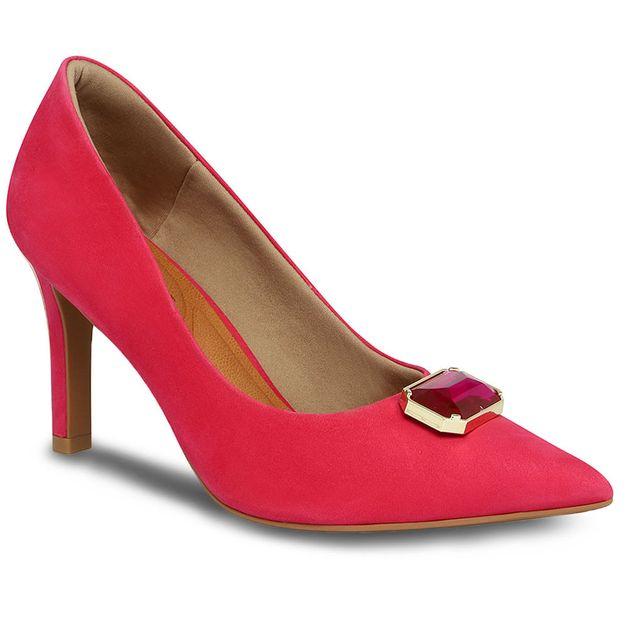Scarpin aveludado rosa 35