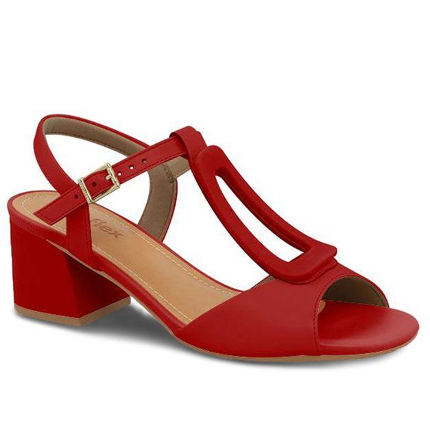 Sandália vermelho carmim 35