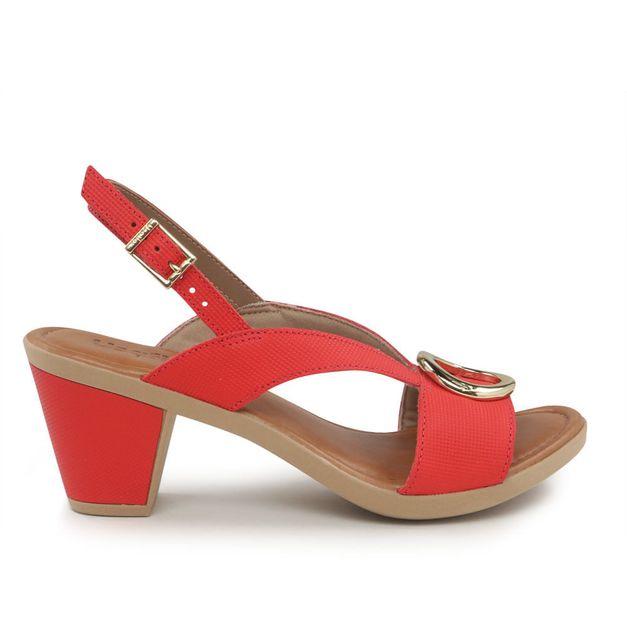 Sandália vermelha 34