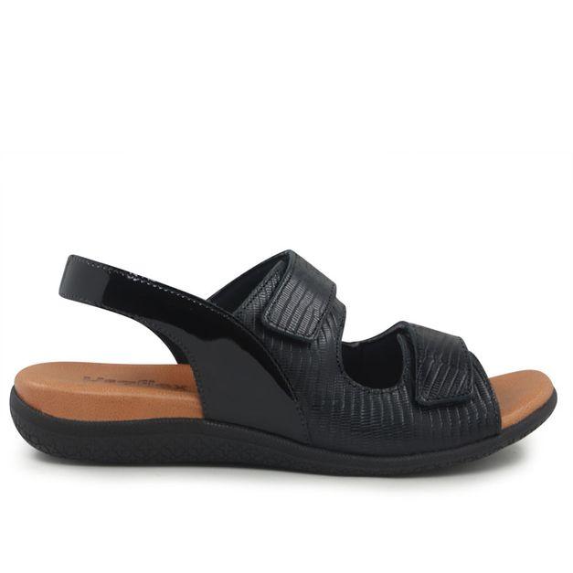 Sandália preta com velcro 34