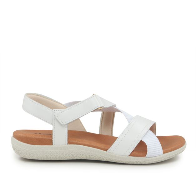 Sandália branca 34