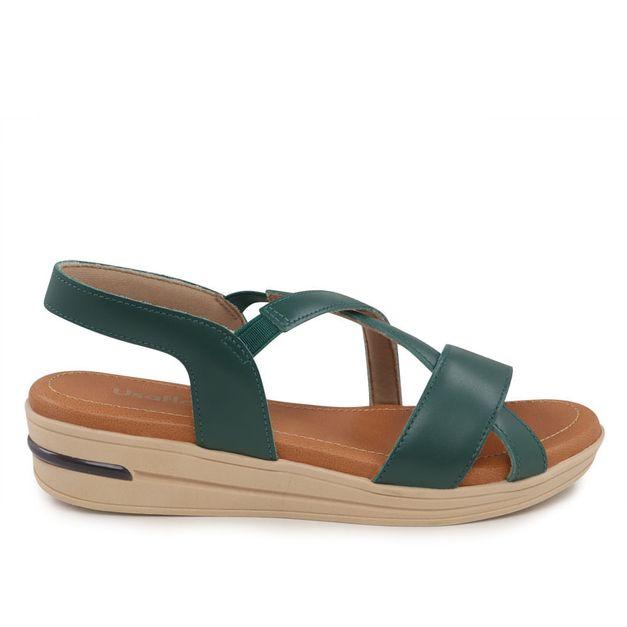 Sandália de tiras verde 33