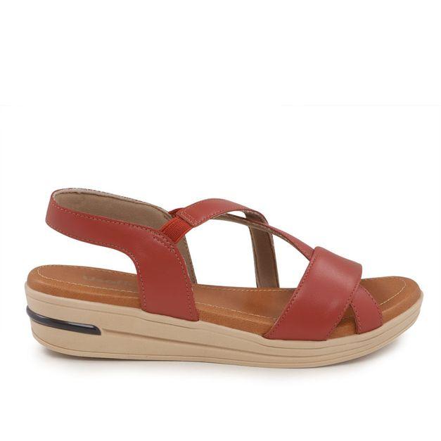 Sandália de tiras vermelha 34