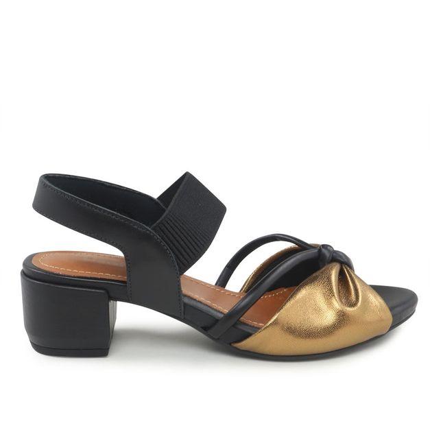 Sandália salto médio com elástico 34